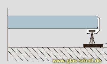 Top Glas Scholl Webshop | Schiebetür-Dichtungsprofil für 10-12mm Glas VX99
