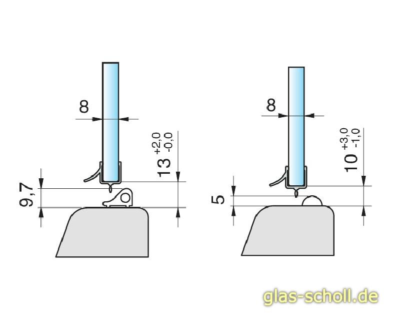 glas scholl webshop unteres sonder wasserabweisprofil. Black Bedroom Furniture Sets. Home Design Ideas