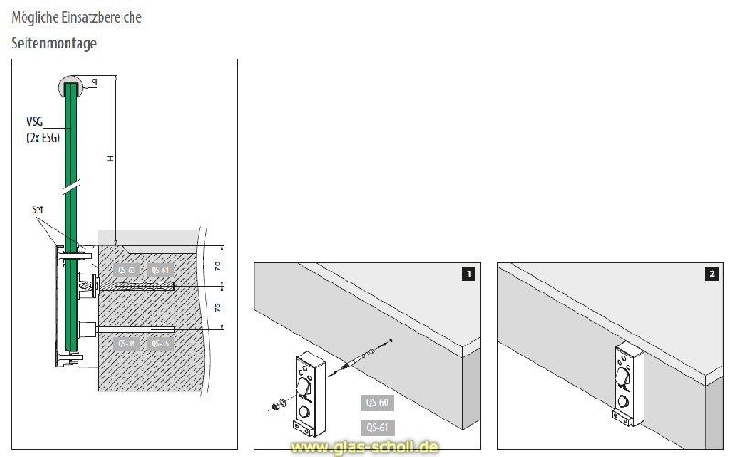 Glas Befestigung glas scholl webshop edelstahl glasadapter gebürstet für vertikale