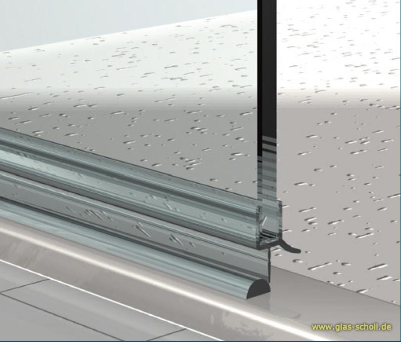 Dusche Halbrund Dichtung : unteres Wasserabweisprofil mit 135? Lippe (1000mm) Duschdichtung f?r
