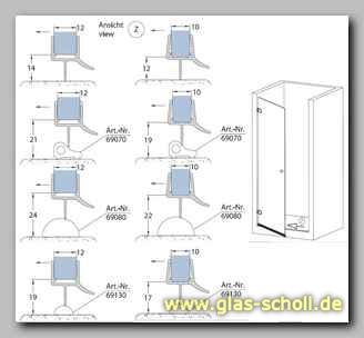 glas scholl webshop unteres wasserabweisprofil mit 135 lippe 2500mm duschdichtung f r 10. Black Bedroom Furniture Sets. Home Design Ideas